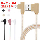 90 Degree Braided Fast Data Sync Charge Charging Cable For iPhone Phones Lot