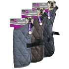 Large Quilted Dog Jacket Dogs Pet Coat Vest Black Brown Grey Length 60cm & 70cm