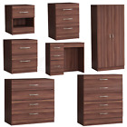 Riano Bedroom Furniture Walnut Wood Dressing Table Drawer Chest Storage Unit