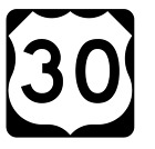 Us Route 30 Sticker R1897 Highway Sign Road Sign