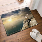 Seaside Scenery Bathroom Decor Waterproof Fabric Shower Curtain Liner Doormat