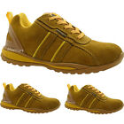 LADIES STEEL TOE CAP SAFETY MAXSTEEL WORK BOOT SHOES SUEDE LEATHER HONEY TRAINER
