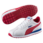 PUMA TURIN JR TRAINERS RRP £31.99 Boys WHITE RED BLUE