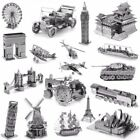 Military Tank Ship Car Cruise Metal Spielzeug Puzzles Geduldspiele Jigsaw Models