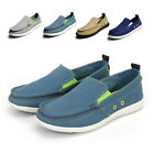 Men Driving Moccasin Shoes Canva Flats Breathable Slip-on Summer Fashion Sneaker