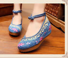 Pretty Floral Embroidery Dancer Pregnancy Flats Comfy Inside Beijing shoes