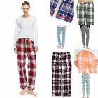 "TINFL Plaid Check Flannel Lounge Womens Long Pajama Pants ""PW22-53"" S-XL"