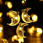 20ft 30 LED Solar String Moon Outdoor Lights Christmes Decorations Warm White
