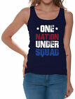 One Nation Under Squad Patriotic Women's Tank Tops 4th of July