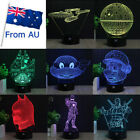 New Star Wars Star Trek 3D Led Lamp Touch Switch Night Light For Children Gifts $25.99 AUD