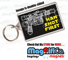 Novelty Keyring - Star Wars Inspired / Han Solo Quotes - Harrison Ford Cool Gift