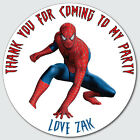 Personalised Custom Shiny Gloss Spiderman Birthday Stickers Party Bag Thank You
