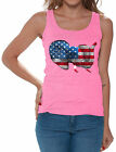 American Flag Cute Elephant Women's Tank Tops 4th Of July USA