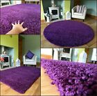 MEDIUM XX LARGE PURPLE THICK HEAVY SUPER SOFT QUALITY SHAGGY PILE RUG MAT