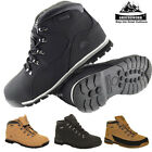 MENS GROUNDWORK LIGHTWEIGHT STEEL TOE CAP WORK SAFETY BOOTS BLACK LEATHER LADIES