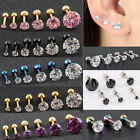 Neu 2pcs Prong Tragus Cartilage Piercing Stud Earring Ear Ring Stainless Steel