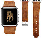 Luxury Leather Watch Band Wrist Clasp Buckle For Apple Watch iWatch 38mm / 42mm