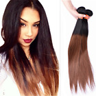 Brazilian Straight Virgin Hair Ombre 1b/30# Human Hair Extension Weave 100g