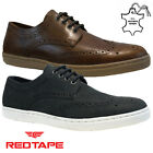 MENS RED TAPE LEATHER LACE UP DRIVING SMART CASUAL BROGUES TRAINERS SHOES SIZE