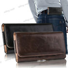HORIZONTAL LEATHER CASE FOR IPHONE SAMSUNG CARRYING POUCH BELT CLIP HOLSTER US