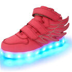 Upgraded Boys Girls LED Light Up Luminous Sneakers for Kids Dance Night Shoes