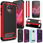 For Motorola Moto Z2 Play Slim Shockproof Perseveringly Armor Phone Case + Tempered Glass