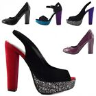 Women's Office Evening Block Heel Pointed Toe Ankle Strap Pumps Work Court Shoes