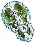 BestSaller 46 x 30 cm Dragon Shield (Multi-Colour)
