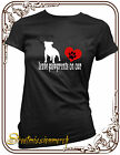 Staffordshire bull terrier, staffy gift paw prints, dog ladies t shirt, S to XXL