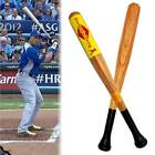 Baseball Natural Wooden Baseball Bat/Rounders Bat With Rubber Grip Multiple Size