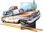 Chevrolet '59 Chevy Brookwood Wagon Hot Rod T-shirt Small to 5XL