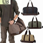 leather weekender bag for men - Vintage Men's Leather Canvas Travel Luggage Bag Weekend Lightweight Duffle Bag