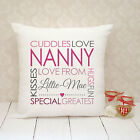 Personalised Cushion Cover - Present Gift - Greatest Nanny