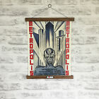 Metropolis Film Poster French 1927 Print with Oak Hanger