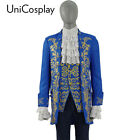 Beauty and the Beast Costume  Beast Cosplay Prince Adam Suits Blue Party Uniform