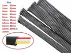 Black 1mm-100mm Expandable Braided Cable Sleeving Sheathing Auto Wire Harnessing