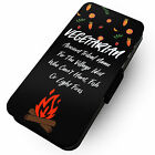 Vegetarian Ancient Tribal Name -Faux Leather Flip Phone Cover Case-Vegan Meat #1