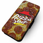 Pizza Slut Printed Faux Leather Flip Phone Cover Case Funny Pizza Parody Eat #2
