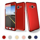 Hybrid 360° Full Protector Case +Tempered Glass For Samsung Galaxy J7 2015 2016