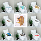 New 3d Toilet Seats Wall Stickers Bathroom Decal Vinyl Art Mural Home Decoration