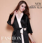 Women spring and summer silk nightgowns bathrobes silk satin pajamas Coat