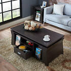 Unique Coffee Table Ultra Modern Sharp Edges Stylish Decor Living Room Espresso