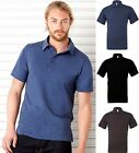 Mens Jersey Short Sleeve 5 Button Poly Cotton Polo Shirt