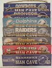 NFL Distressed Man Cave Wood Sign Fan Creations