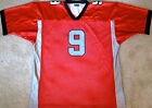 CENTEX BARRACUDAS (TX) IFL FOOTBALL JERSEY #9 NEW! SMALL,  MEDIUM OR 3XL