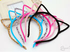 Fashion Womans Girls Fluffy Hair Band Headband Cat Ear Shaped Hair Accessories
