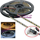 5mm Width 2835 SMD Black PCB Flexible LED Strip Light 12V DC 120leds/m 5M white
