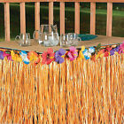 Straw Color Hawaiian Luau Tiki Party Garden Beach Dance Table Skirt Decorations