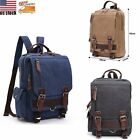 Men Women Vintage Canvas Travel Hiking Backpack Rucksack Shoulder Sling Book Bag