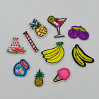 Pineapple cherry banana Embroidered clothes food Ironon patch sew applique badge